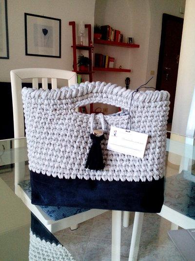 Borsa fettuccia bag fatto a mano donna regalo natale doni e bomboniere misshobby.com