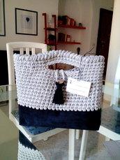Borsa  handmade in fettuccia bag fatto a mano donna regalo natale doni e bomboniere misshobby.com