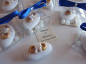 confetti decorati segnaposto fedi nuziali monoconfetto