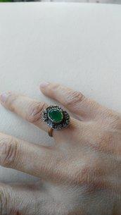 Set anello e orecchini vintage in argento