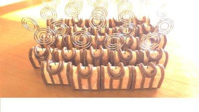 BOMBONIERA MATRIMONIO COMPLEANNO LAUREA - segnaposto memoclip portafoto  - FIMO - modello 2
