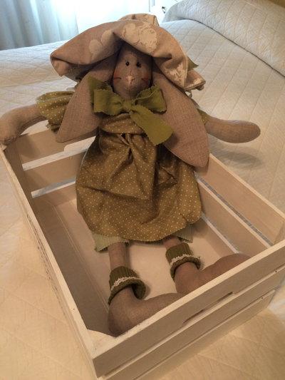 Idea regalo Media grandezza Coniglietta elegante,decoro x casa addobbo