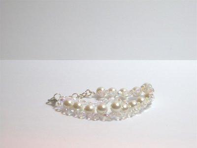 Bracciale di perle e swarovski