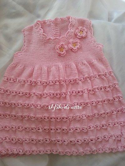 Abitino / vestitino in cotone rosa
