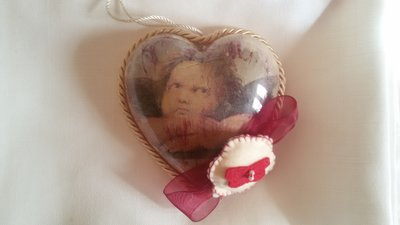 CUORE MAMMA ANGELO IN DECOUPAGE