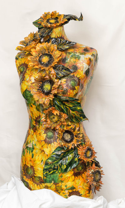 Manichino - Busto Decorato - I Girasoli
