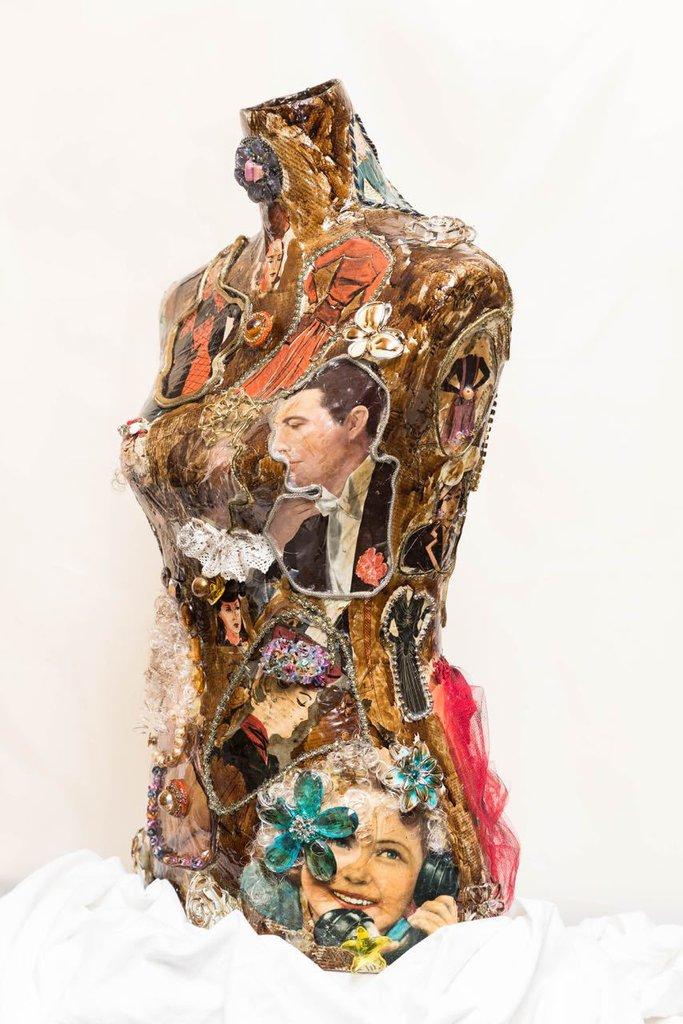 Manichino kitch - Busto Decorato