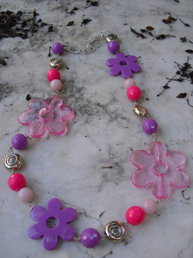 collana fantasia di fiori