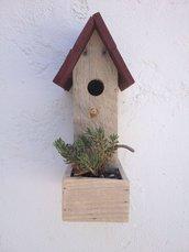 casetta per uccelli in legno - PLATANO-