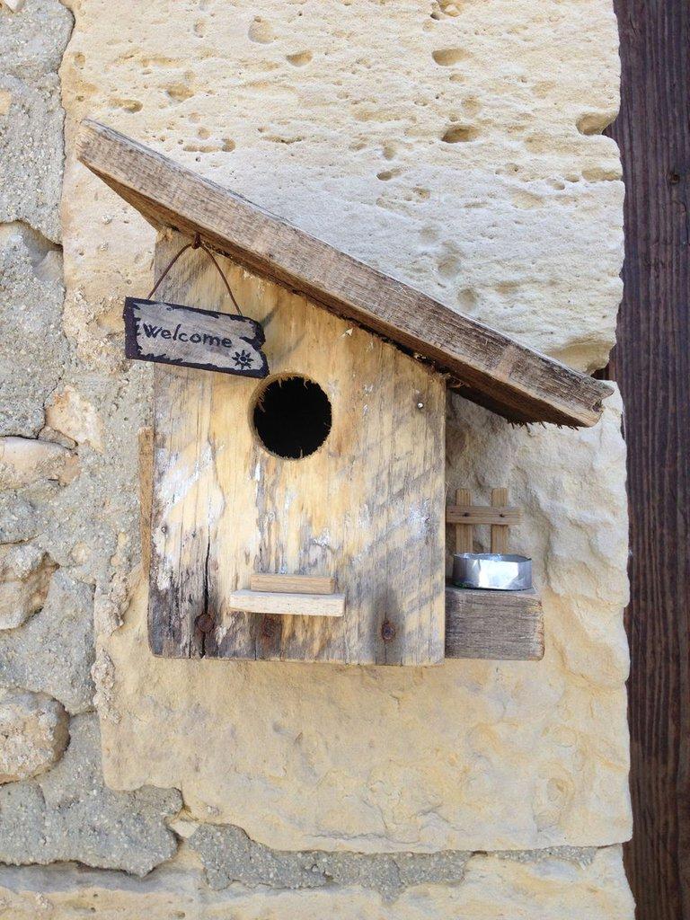 Super casetta per uccelli in legno - WELCOME- - Per la casa e per te  EK25