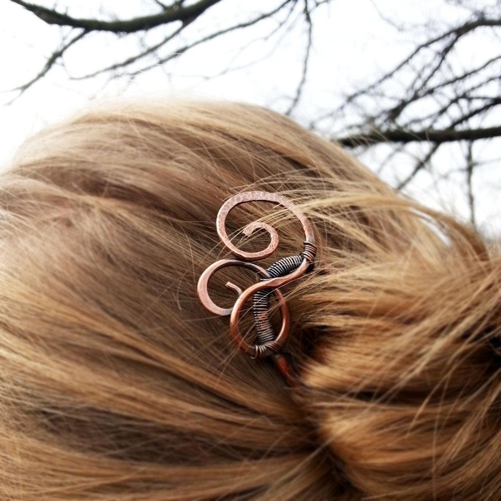 Forcina per capelli in rame con spirali Fermacapelli in metallo Fermacodino Fermaglio per capelli in rame antico