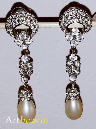 """orecchini """"Principessa Sissi"""" - vintage originale"""