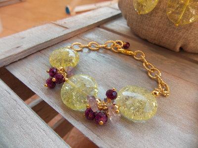 Bracciale giallo e viola