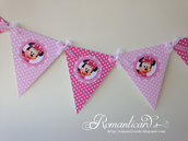 Banner Bandierine per decorare eventi Minie Mouse