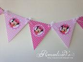 Banner Bandierine per decorare eventi Minie Mouse