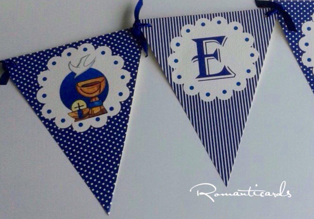 Banner decorativo con nome per Prima Comunione by Romanticards
