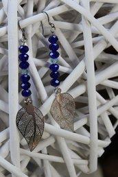 Orecchini in swarovski viola/blu