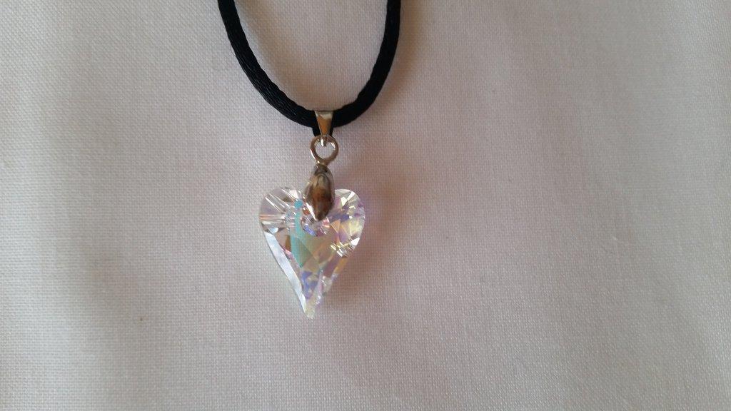 Ciondolo in cristallo SW crystal aurora boreale