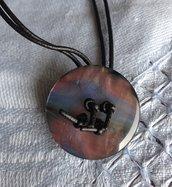 Girocollo fatto a mano in argento 925‰.