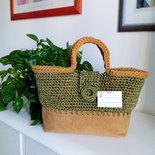borsa realizzata con cordino e fondo