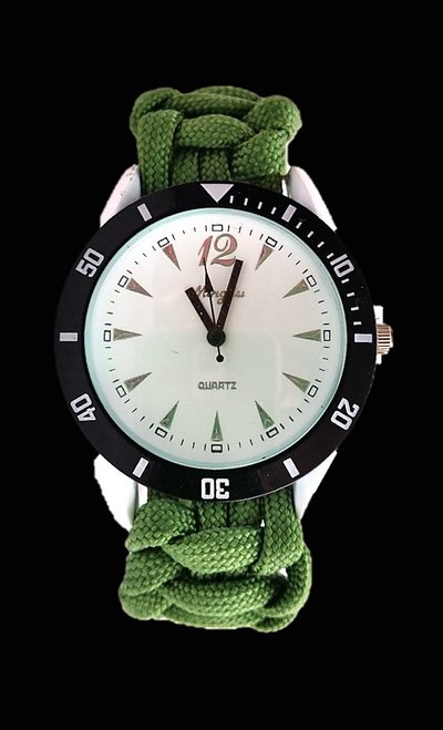 Orologio Unisex paracord bianco verde