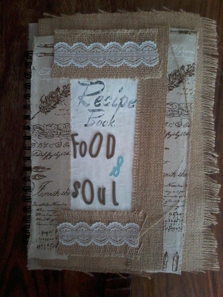 quaderno per ricette culinarie e dell'anima