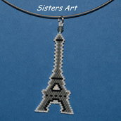 """Collana """"Torre Eiffel"""" con pendente realizzato con perline Miyuki delica"""
