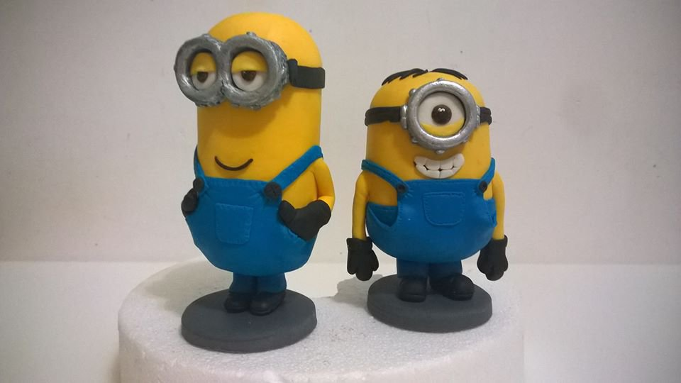 Minion decorazioni per torta in PDZ