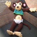 Scimmia bebè  amigurumi