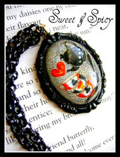 TEA TIME RESIN CAMMEO NECKLACE