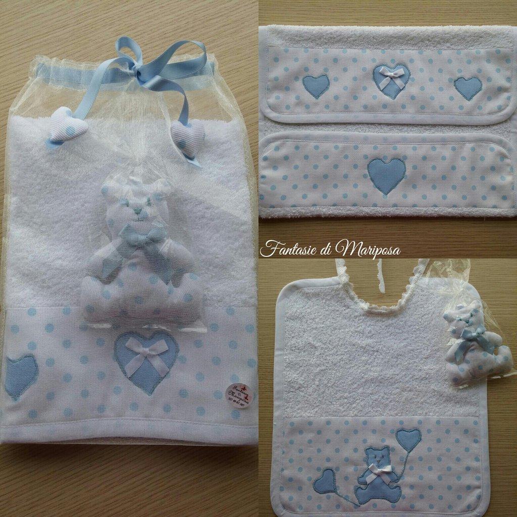 Bavaglino e asciugamano bimbo - Idea regalo