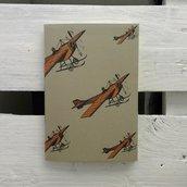 """Quaderno 7Nodi """"Avio""""  Vintage aerei. Stampa in bianco e nero o a colori."""