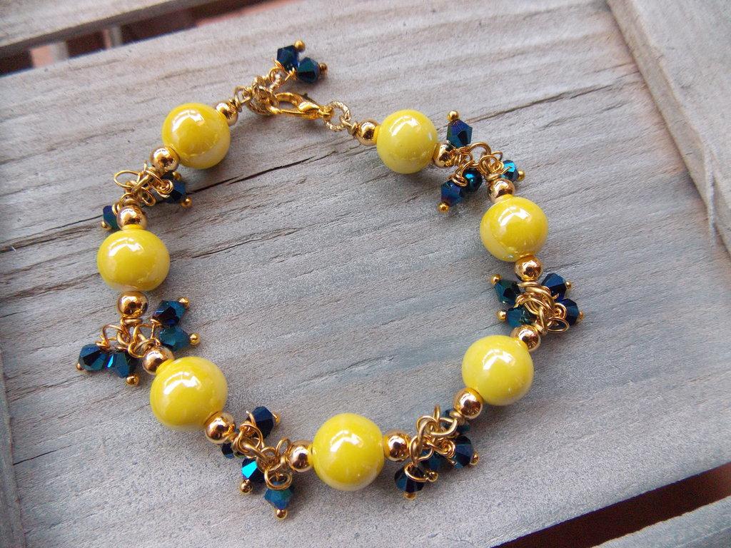 Bracciale giallo e blu
