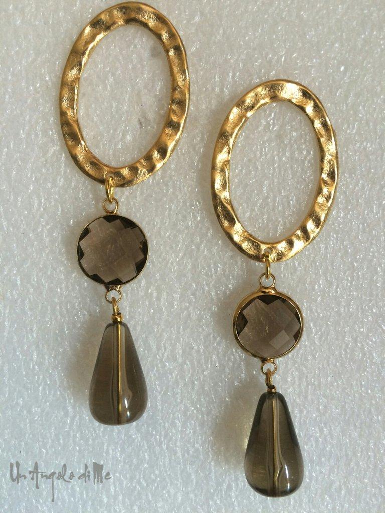 Orecchini Ovale Gold