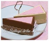 Scatoline per confettata a forma di fetta di torta