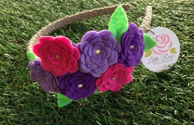 Cerchietto a roselline by Little Rose Handmade
