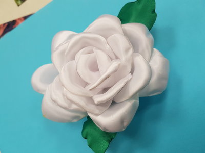 Rosa in raso di seta