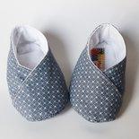 scarpine bebè  cotone  fantasia grigio
