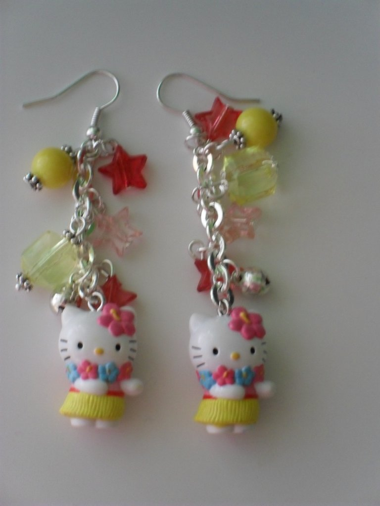 "ORECCHINI ""HELLO KITTY HAWAI"""