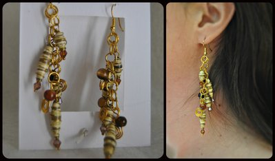 orecchini pendenti paper brown