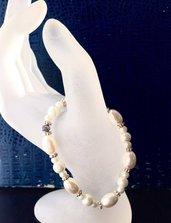 bracciale elastico  perle