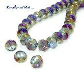 LOTTO 10 perle in vetro sfaccettato (12 mm) (cod 1)