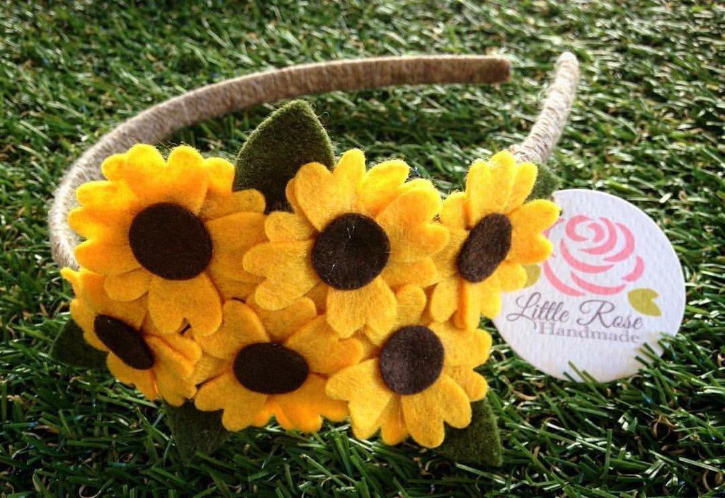 Cerchietto a girasole by Little Rose Handmade