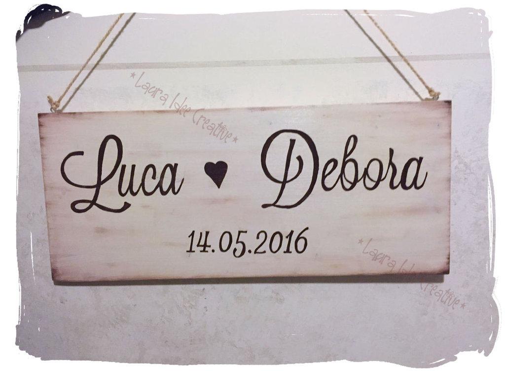 Favorito Cartelli in legno per matrimonio personalizzabili - Feste  QN38