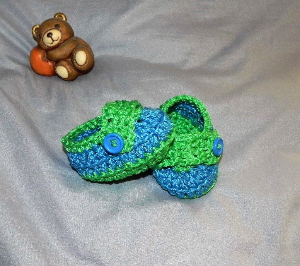 Scarpine scarpette mocassini  neonato bebè uncinetto crochet