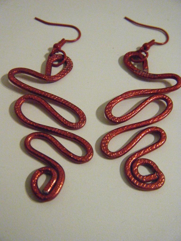 Orecchini Alluminio Rosso