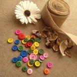 40 bottoni in legno colorati