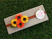 Fascia elastica a girasoli per bambina by Little Rose Handmade