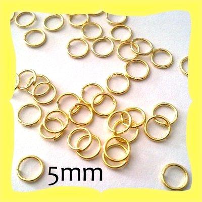 150 Anellini Nickel free dorati 5mm