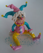 CLOWN !!! CAKE TOPPER(Fatto a mano)